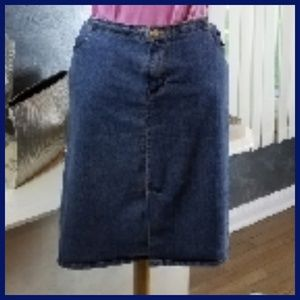 AVENUE BLUES PLUS SIZE DENIM SKIRT SIZE 16